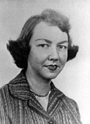 1950s Portraits Photo Metal Prints - Flannery Oconnor, 1950s Metal Print by Everett
