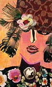 Diane Fine Metal Prints - Flapper Lady Metal Print by Diane Fine