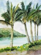 Plants Painting Prints - Flapping Palm Trees Print by Han Choi - Printscapes