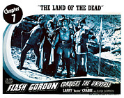 Lobbycard Framed Prints - Flash Gordon Conquers The Universe Framed Print by Everett