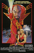 1980 Framed Prints - Flash Gordon, Top Max Von Sydow, Bottom Framed Print by Everett