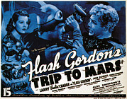 Lobbycard Framed Prints - Flash Gordons Trip To Mars, Top Left Framed Print by Everett