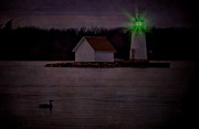 Alexandria Bay Posters - Flash Of Green Poster by Emily Stauring