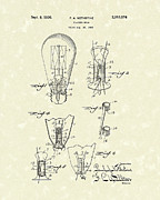 Flashing Drawings Prints - Flasher Bulb 1936 Patent Art Print by Prior Art Design