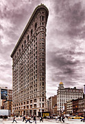 Flat Iron Framed Prints - Flat Iron Building Framed Print by Michael Dorn