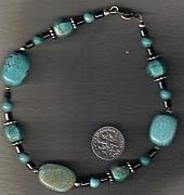 Southwestern Jewelry - Flat Pebbles and Lantern beads by White Buffalo
