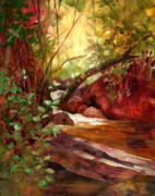 Puerto Rico Paintings - Flat Rock on Palo Colorado by Monica Linville