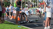 Ironman Photos - Flat tire by Charles  Jennison
