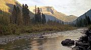 National Park Mixed Media Prints - Flathead River Print by Richard Rizzo