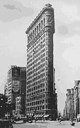 True Melting Pot Digital Art Posters - Flatiron Building BW16 Poster by Scott Kelley