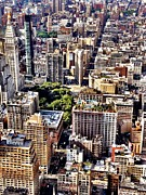 Cities Art - Flatiron Building From Above - New York City by Vivienne Gucwa