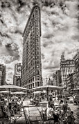 5th Ave Photos - Flatiron Building HDR by Steve Zimic