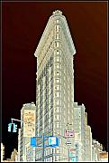 Central Park Photo Originals - Flatiron Building Inverted by Randy Aveille