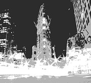 Financial Digital Art - Flatiron BW3 by Scott Kelley