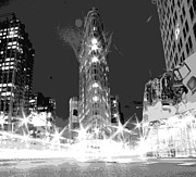 Financial Digital Art - Flatiron BW7 by Scott Kelley