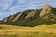 Boulder Metal Prints - Flatiron Morning Light Boulder Colorado Metal Print by James Bo Insogna