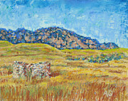 Plains Pastels Originals - Flatirons  by Abbie Groves