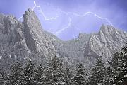 James Bo Insogna Prints - Flatirons Lightning Print by James Bo Insogna