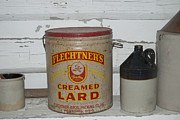 Can Prints - Flechtners Creamed Lard Print by Michael Peychich