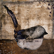 Bird Collage Prints - Fledgling Print by Carol Leigh