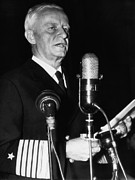 Candid Portraits Prints - Fleet Admiral Chester Nimitz Testifying Print by Everett