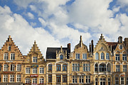 Belgium Photos - Flemish Architecture in Ypres, Belgium by Jon Boyes