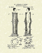 Unusual Drawings Posters - Flesh Brushing Apparatus 1882 Patent Art Poster by Prior Art Design