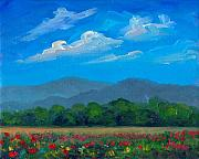 Poppies Field Paintings - Fletcher Park Poppies by Jeff Pittman