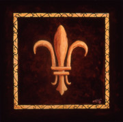 Fleur Di Lis Painting Prints - Fleur de Lys-Clovis Print by Marilyn Dunlap