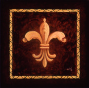 Logo Paintings - Fleur de Lys-King Charles VII by Marilyn Dunlap