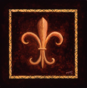Fleur Di Lis Painting Prints - Fleur de Lys-King Louis VII Print by Marilyn Dunlap