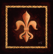 Logo Paintings - Fleur de Lys-King Louis XV by Marilyn Dunlap