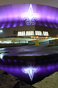 Nfl Framed Prints - Fleur di Lis Reflected Framed Print by Pixel Perfect by Michael Moore