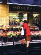 Shopper Prints - Fleurs Monceau Print by Cheryl Wooten