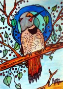 Woodpecker Mixed Media - Flicker by Robin Monroe