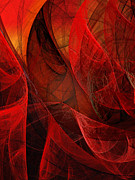 Awe Digital Art - Flickering Flaming Fractal 2 by Andee Photography