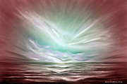 Gorna Painting Posters - Flight at Sunset - Abstract Sunset Poster by Gina De Gorna