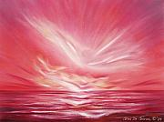 Beach Sunsets Originals - Flight at Sunset by Gina De Gorna