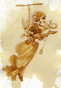 Women  Paintings - Flight by Brian Kesinger