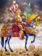 Freemasons Paintings - Flight from antiqua. by Tautvydas Davainis