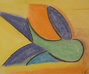 Yellows Pastels Originals - Flight by Gregory Letts