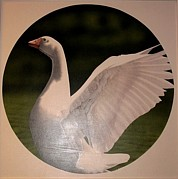 Pointillist Originals - Flight Greta Goose by Gary Morton