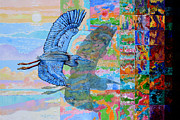Crane Painting Originals - Flight Into Unconsiousness by John Lautermilch