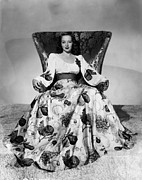 Full Skirt Metal Prints - Flight Lieutenant, Evelyn Keyes, 1942 Metal Print by Everett