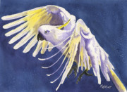 Pet Cockatoo Framed Prints - Flight of Fancy Framed Print by Marsha Elliott