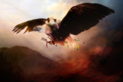 Landscape Digital Art - Flight of the Eagle by Karen Koski