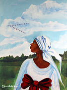 Slavery Painting Framed Prints - Flight Path Framed Print by Diane Britton Dunham