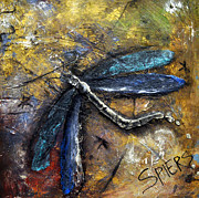 Signed Mixed Media Originals - Flight Risk by Amanda  Sanford