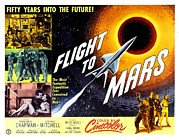 Rocket Framed Prints - Flight To Mars, 1951 Framed Print by Everett