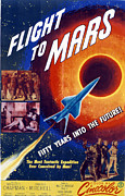 1951 Movies Prints - Flight To Mars, 1951, Poster Art Print by Everett